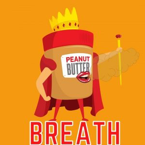 peanut butter jar illustration exhaling and wearing crown