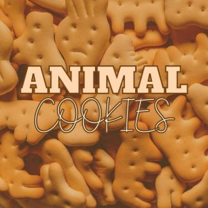 animal cookies background for weed strain