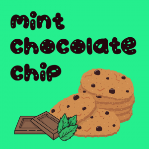 chocolate chip cookies with chocolate and mint